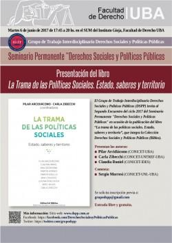 Presentación del libro <i>La Trama de las Políticas Sociales. Estado, saberes y territorio</i>