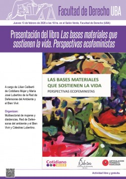 Presentación del libro <i>Las bases materiales que sostienen la vida. Perspectivas ecofeministas</i>