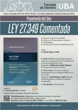 Presentación del Libro <i>LEY 27.349 Comentada</i>