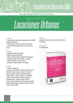 Presentación del libro <i>Locaciones urbanas</i>
