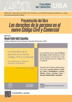 Presentación del libro <i>Los derechos de la persona en el nuevo Código Civil y Comercial</i>