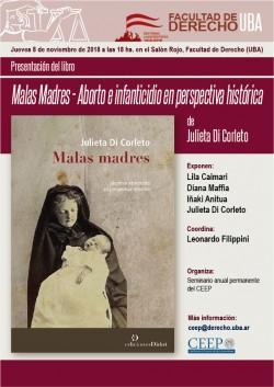Presentación del libro <i>Malas Madres - Aborto e infanticidio en perspectiva histórica</i>