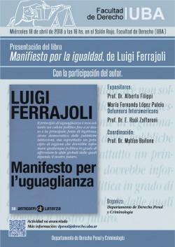 Presentación del libro <i>Manifiesto por la igualdad</i>, de Luigi Ferrajoli