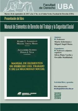 Presentación del libro <i>Manual de Elementos de Derecho del Trabajo y la Seguridad Social</i>