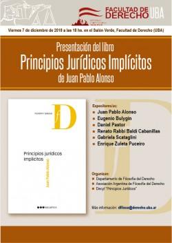Presentación del libro <i>Principios Jurídicos Implícitos</i>, de Juan Pablo Alonso