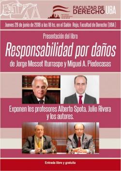 Presentación del libro <i>Responsabilidad por daños</i>, de Jorge Mosset Iturraspe y Miguel A. Piedecasas