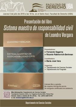 Presentación del libro <i>Sistema maestro de responsabilidad civil</i>, de Leandro Vergara