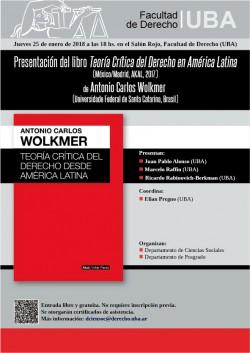 Presentación del libro <i>Teoría Crítica del Derecho en América Latina</i>