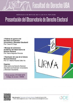 Presentación del Observatorio de Derecho Electoral