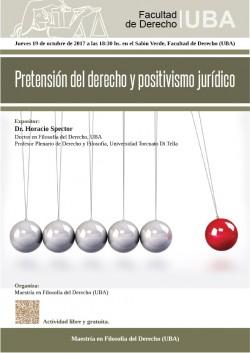 Pretensión del derecho y positivismo jurídico