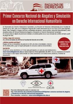 Primer Concurso Nacional de Alegatos y Simulación en Derecho Internacional Humanitario