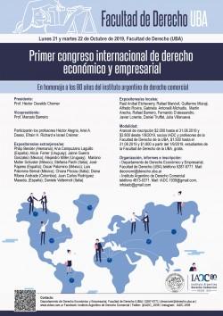 Primer Congreso Internacional de Derecho Económico y Empresarial en homenaje a los 80 años del Instituto Argentino de Derecho Comercial