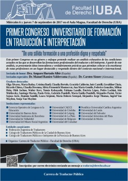 Primer congreso universitario de formación en traducción e interpretación