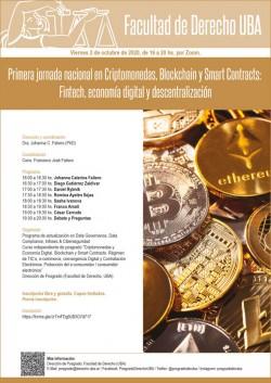 Primera jornada nacional en Criptomonedas, Blockchain y Smart Contracts: Fintech, economía digital y descentralización