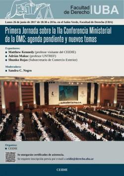 Primera jornada sobre la 11.ª Conferencia Ministerial de la OMC: agenda pendiente y nuevos temas