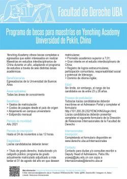 Programa de becas para maestrías en <i>Yenching Academy</i> - Universidad de Pekín, China