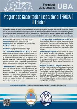 Programa de Capacitación Institucional (PROCAI). II Edición