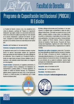 Programa de capacitación institucional (PROCAI) - III edición