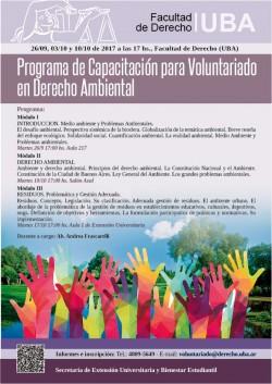 Programa de Capacitación para Voluntariado en Derecho Ambiental. Septiembre-Octubre 2017