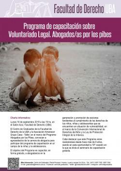 "Programa de capacitación sobre voluntariado legal ""Abogados/as por los pibes"""