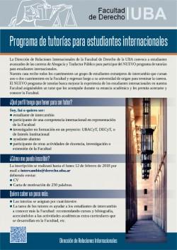 Programa de tutorías para estudiantes internacionales