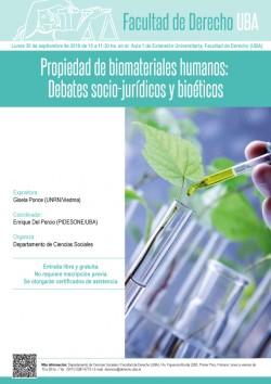 Propiedad de biomateriales humanos: Debates socio- jurídicos y bioéticos