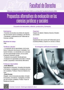 Propuestas alternativas de evaluación  en las ciencias jurídicas y sociales