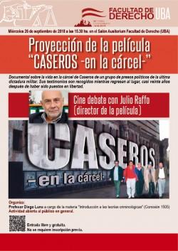 """Proyección de la película """"Caseros. En la cárcel"""""""