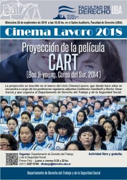 Proyecci贸n de la pel铆cula  <i>CART</i>, del director Boo Ji Young