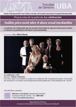 Proyección de la película <i>La celebración</i>: Análisis psico-social sobre el abuso sexual intrafamiliar