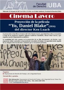 """Proyección de la película <i>""""Yo, Daniel Blake""""</i> del director Ken Loach"""