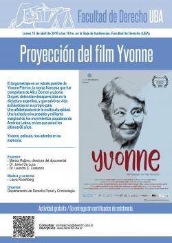 Proyección del film <i>YVonne</i>