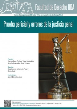 Prueba pericial y errores de la justicia penal