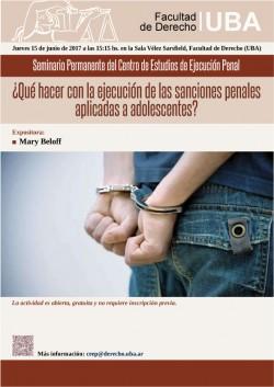 ¿Qué hacer con la ejecución de las sanciones penales aplicadas a adolescentes?