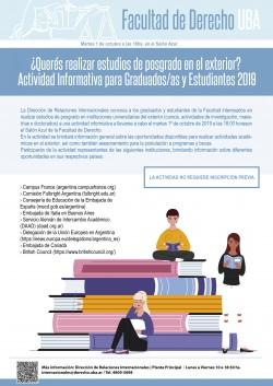 ¿Querés realizar estudios de posgrado en el exterior? Actividad informativa para graduados/as y estudiantes 2019