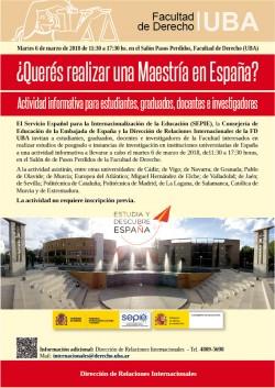 ¿Querés realizar una Maestría en España?