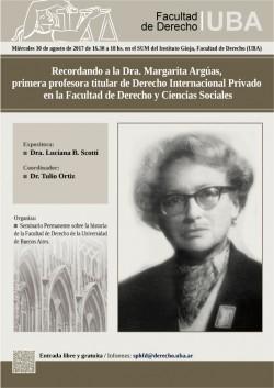 Recordando a la Dra. Margarita Argúas, primera profesora titular de Derecho Internacional Privado en la Facultad de Derecho y Ciencias Sociales