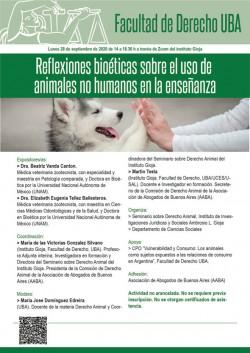 Reflexiones bioéticas sobre el uso de animales no humanos en la enseñanza