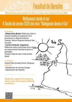 """Reflexiones desde el sur. II Sesión de verano 2020 del ciclo """"Dialogando desde el Sur"""""""