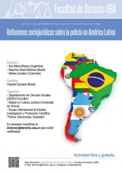 Reflexiones sociojurídicas sobre la policía en América Latina