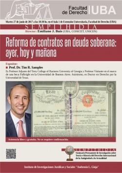 Reforma de contratos en deuda soberana: ayer, hoy y mañana