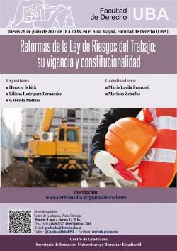 Reformas de la Ley de  Riesgos del Trabajo, su vigencia y constitucionalidad