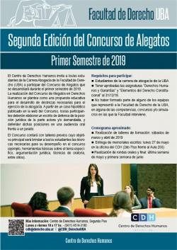 Segunda Edición del Concurso de Alegatos - Primer Semestre de 2019
