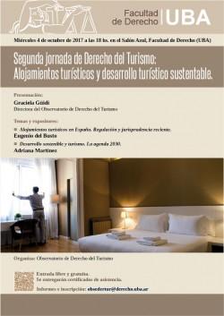 Segunda jornada de Derecho del Turismo: Alojamientos turísticos y desarrollo turístico sustentable