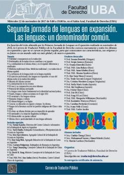 Segunda jornada de lenguas en expansión. Las lenguas: un denominador común