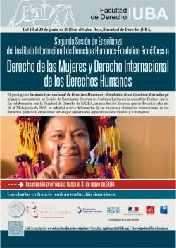 Segunda Sesión de Enseñanza del Instituto Internacional de Derechos Humanos-Fondation René Cassin: Derecho de las Mujeres y Derecho Internacional de los Derechos Humanos
