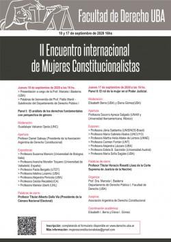 Segundo encuentro internacional de Mujeres Constitucionalistas