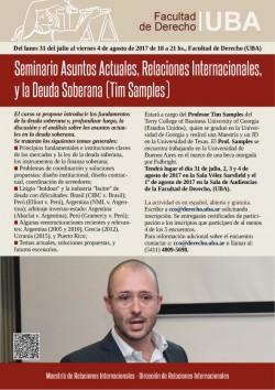 Seminario Asuntos Actuales, Relaciones Internacionales, y la Deuda Soberana (Tim Samples)