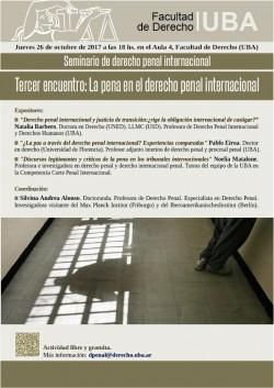 Seminario de derecho penal internacional. Tercer encuentro: La pena en el derecho penal internacional
