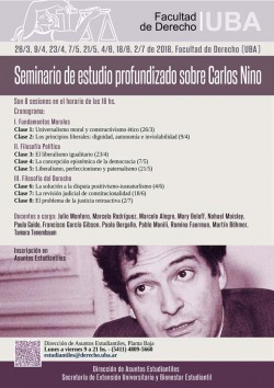 Seminario de estudio profundizado sobre Carlos Nino